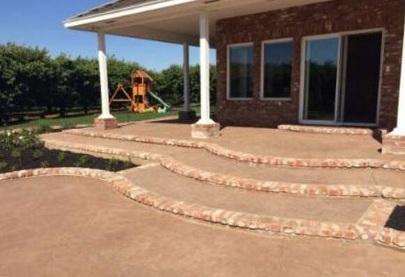 an image of a cement patio built in tracy, ca