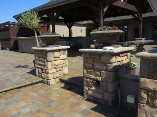 a picture of a stone masonry construction in tracy, ca