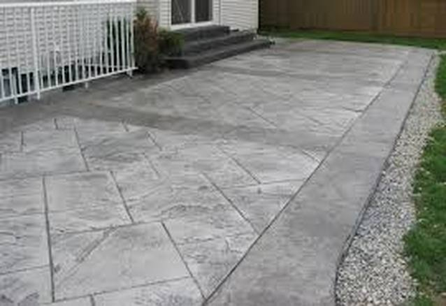 this is a picture of concrete stamping tracy california