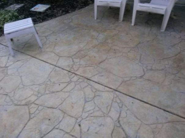 a picture of a stamped concrete job in tracy, ca