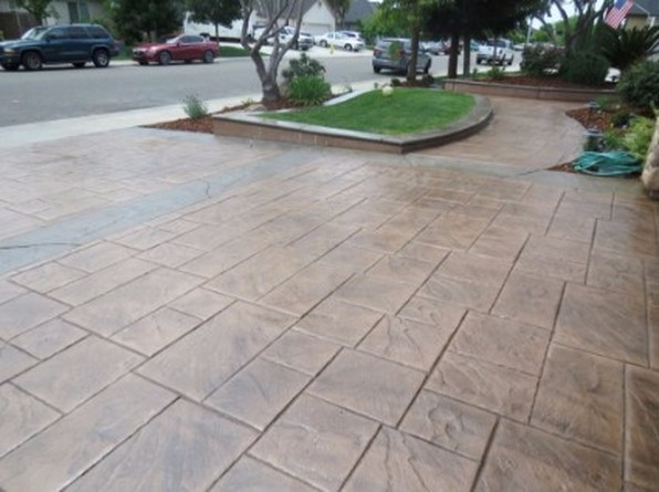 an image of stamped concrete paved in tracy, ca