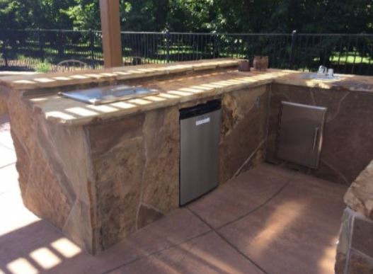 an image of a stone kitchen remodel concrete in tracy, ca