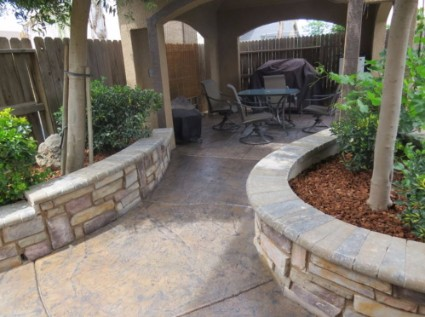 This is an image of concrete driveway contractors finished job in Tracy, California.